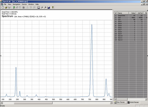 spectroscopy analysis software screenshot - click to enlarge